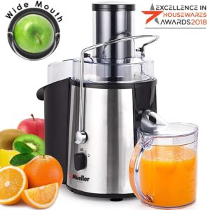 Juicer Ultra 1100W Power - Easy Clean Extractor Press Centrifugal Juicing Machine by Mueller Austria